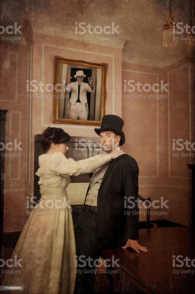Old Time Horror Story stock photo