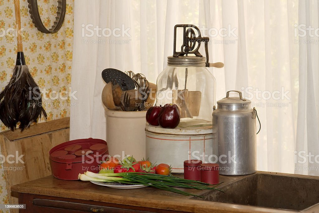 Old Time Kitchen royalty-free stock photo