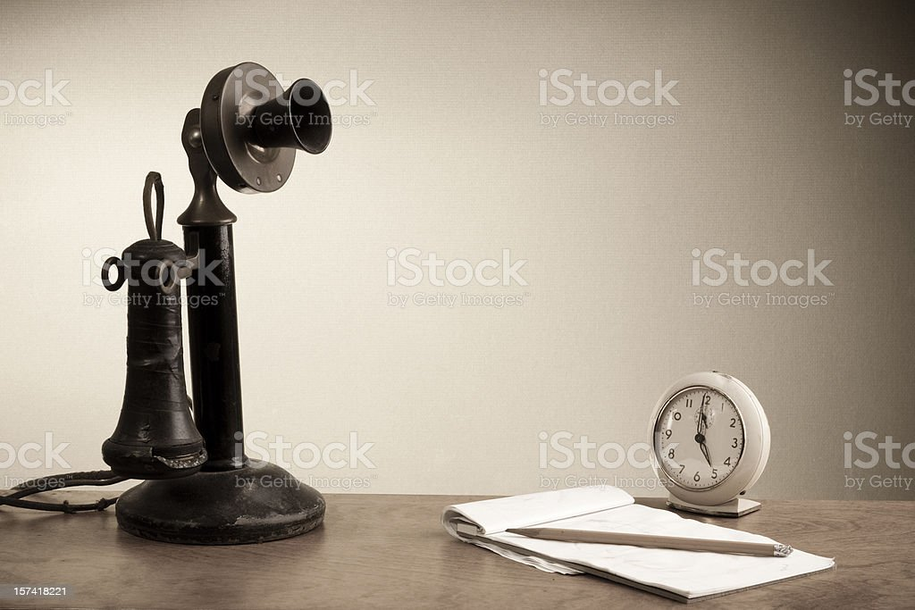 Old Time Message stock photo