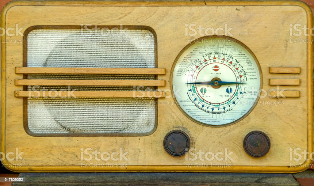 Old time radio stock photo