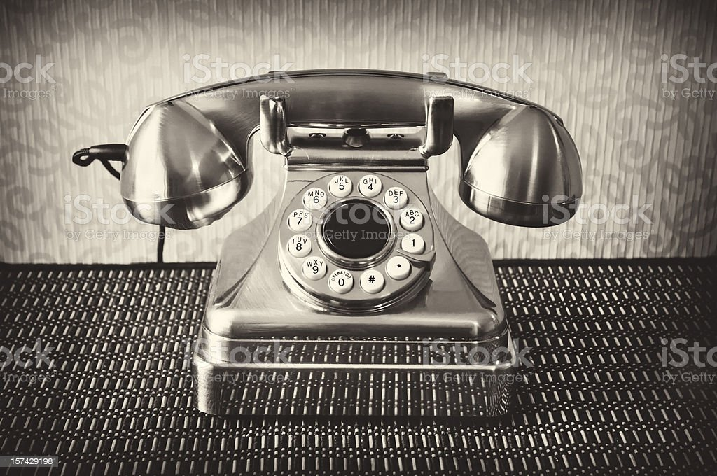 Old Time Telephone stock photo
