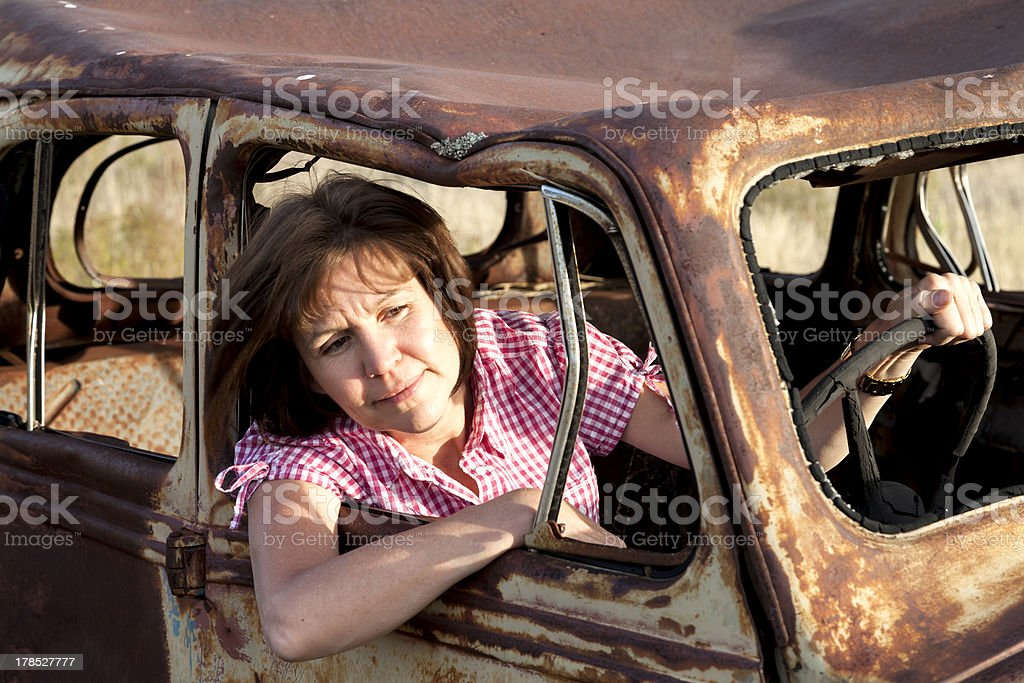 Old time traffic stock photo