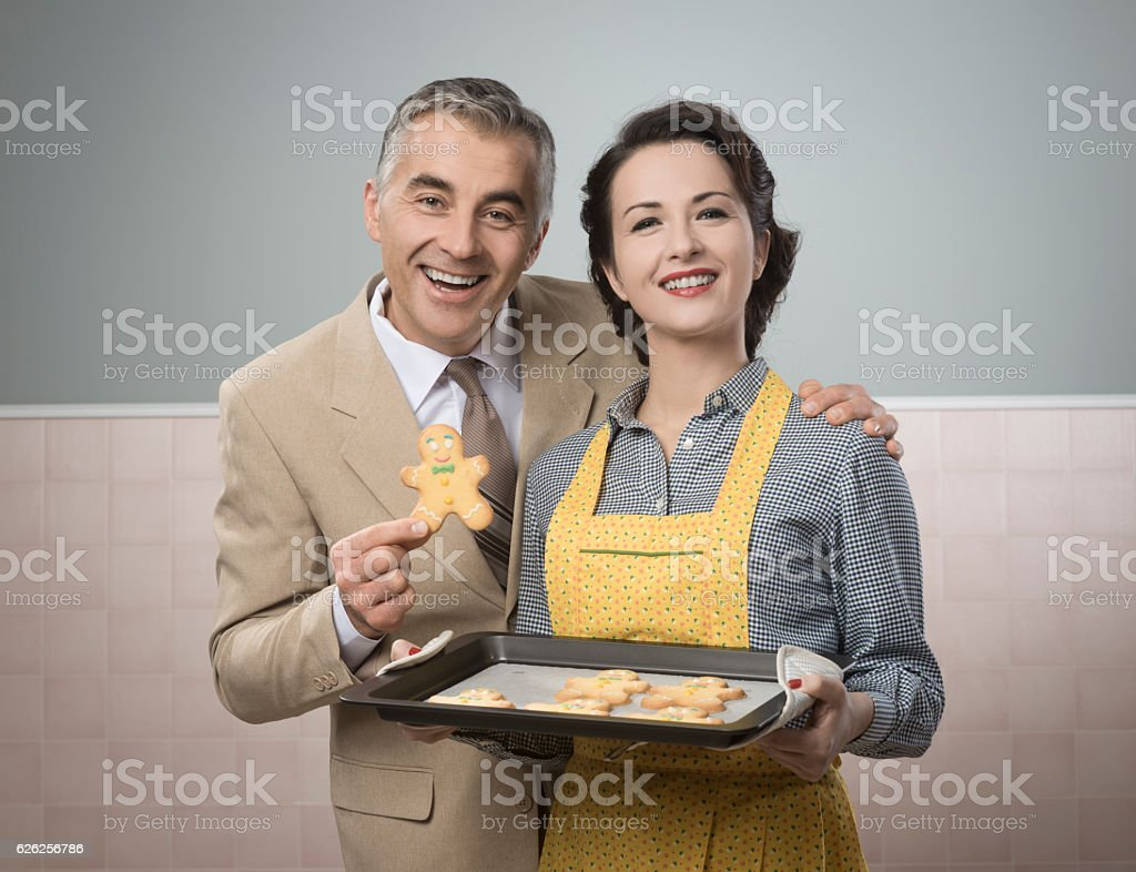 Old timey woman serving home made cookies stock photo