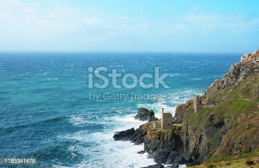 Nineteenth century disused tin and copper mines, Botallack, Cornwall, UK