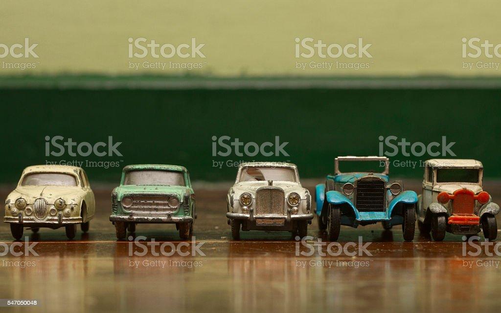 old tin car stock photo