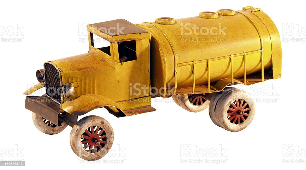 Old tin truck royalty-free stock photo