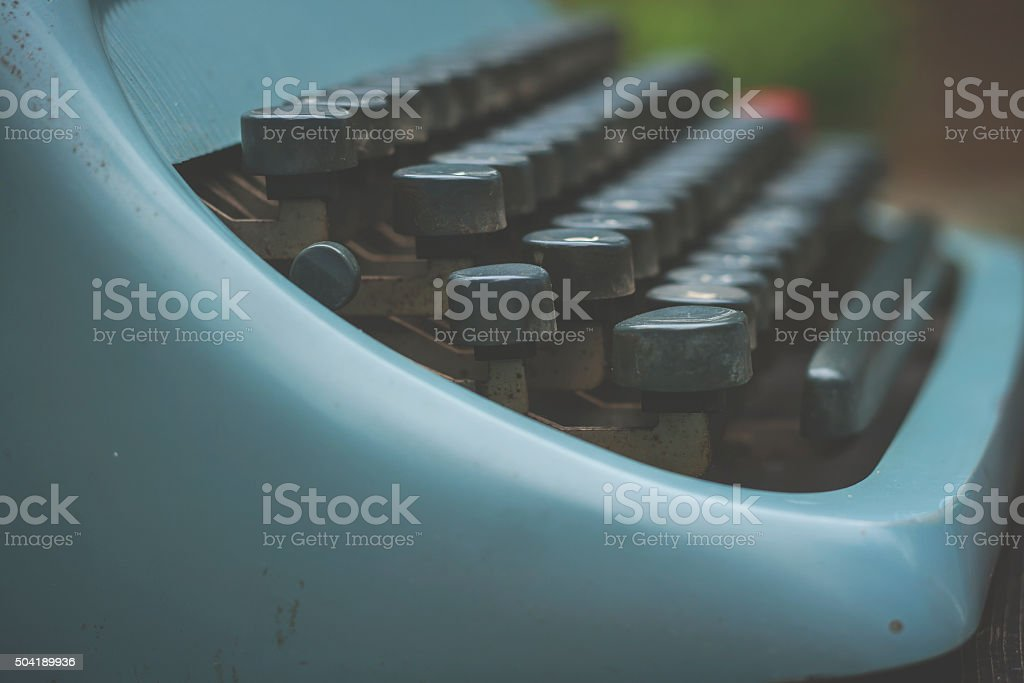 old tipewriter stock photo
