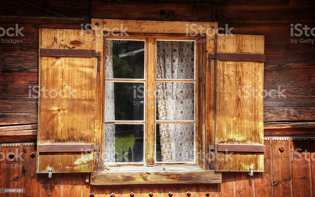 old tirolean Fenster – Foto