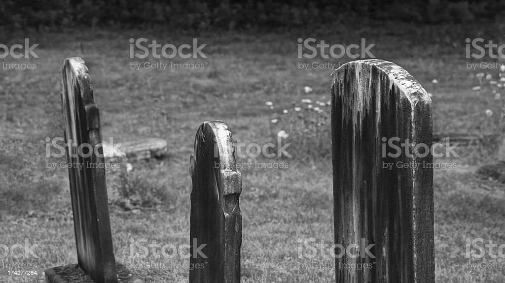Old tombstone in Anglican cemetery royalty-free stock photo
