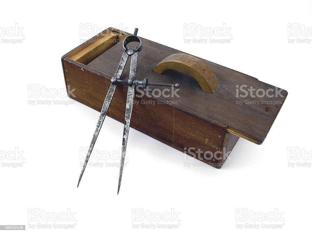 Old tool box royalty-free stock photo