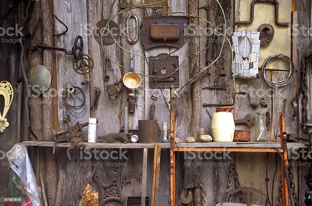 Old tool shed royalty-free stock photo