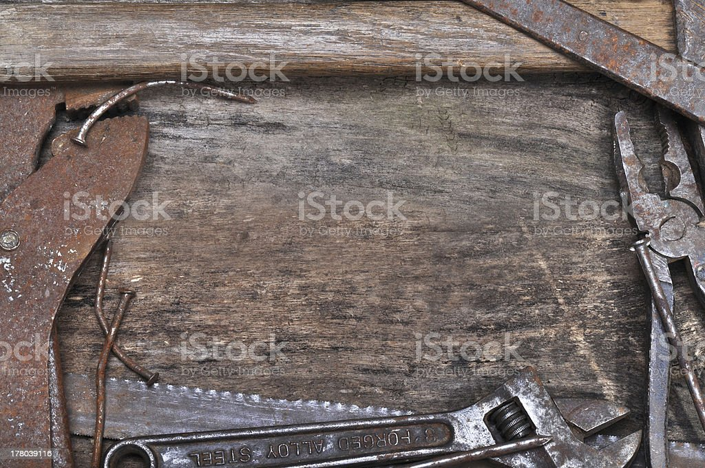 Old tools background royalty-free stock photo