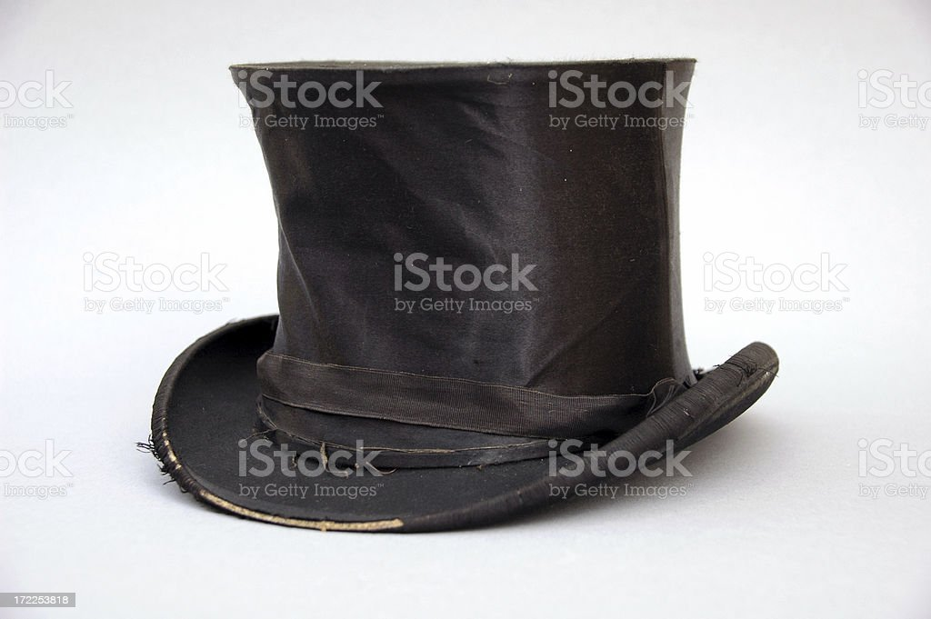 old top hat stock photo