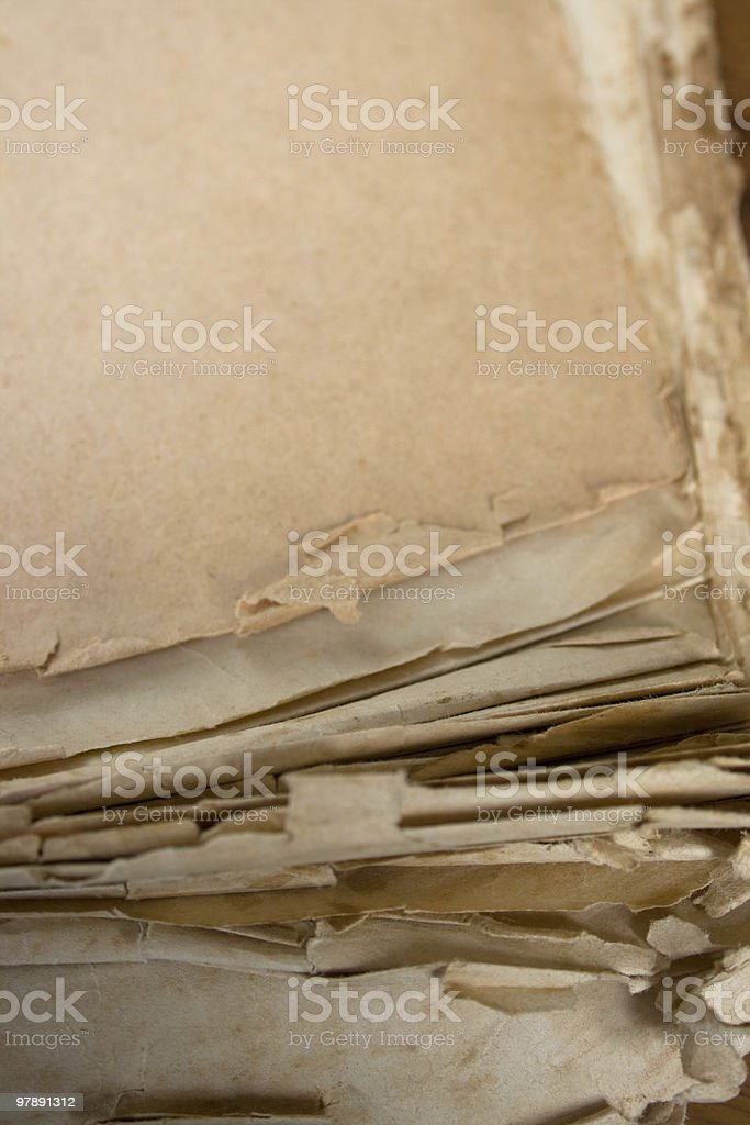 Old torn blank paper royalty-free stock photo