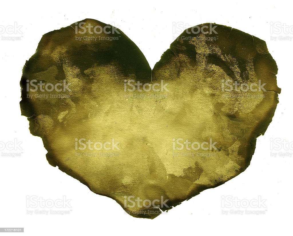 Old Torn Heart Paper Background Layer royalty-free stock photo