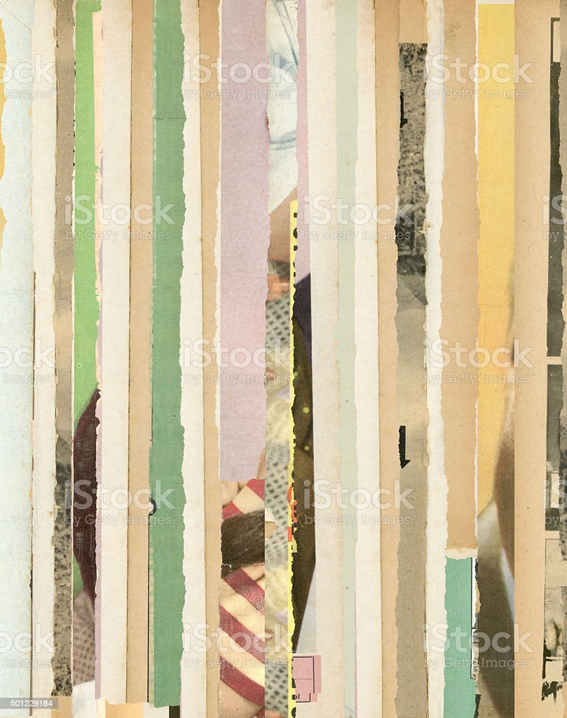 Old torn magazines background 2 stock photo