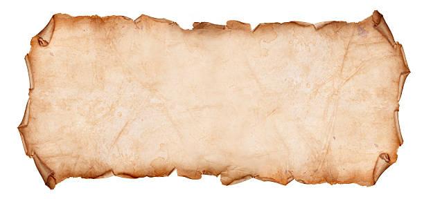 Alten zerrissenes Papier Blättern isoliert auf ein Weißer Hintergrund – Foto