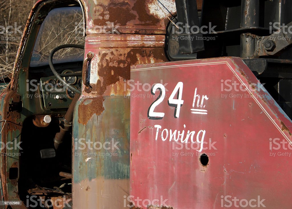 Old Tow Truck Wrecker royalty-free stock photo
