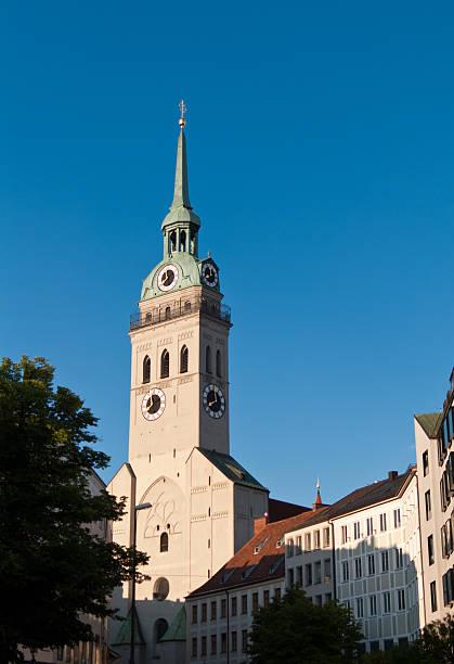old tower church - sankt peterskyrkan münchen bildbanksfoton och bilder