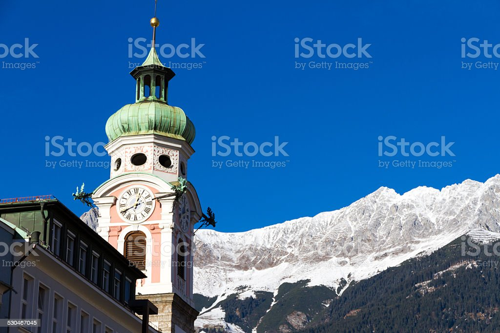 Old tower in Innsbruck, Austria stock photo