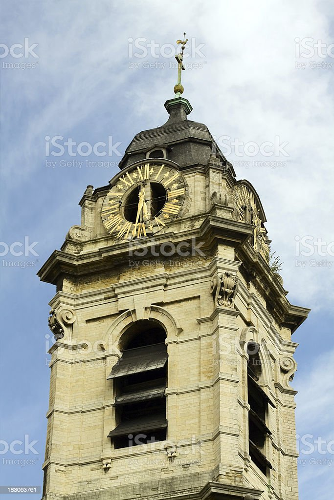 Old tower of Brussel royalty-free stock photo
