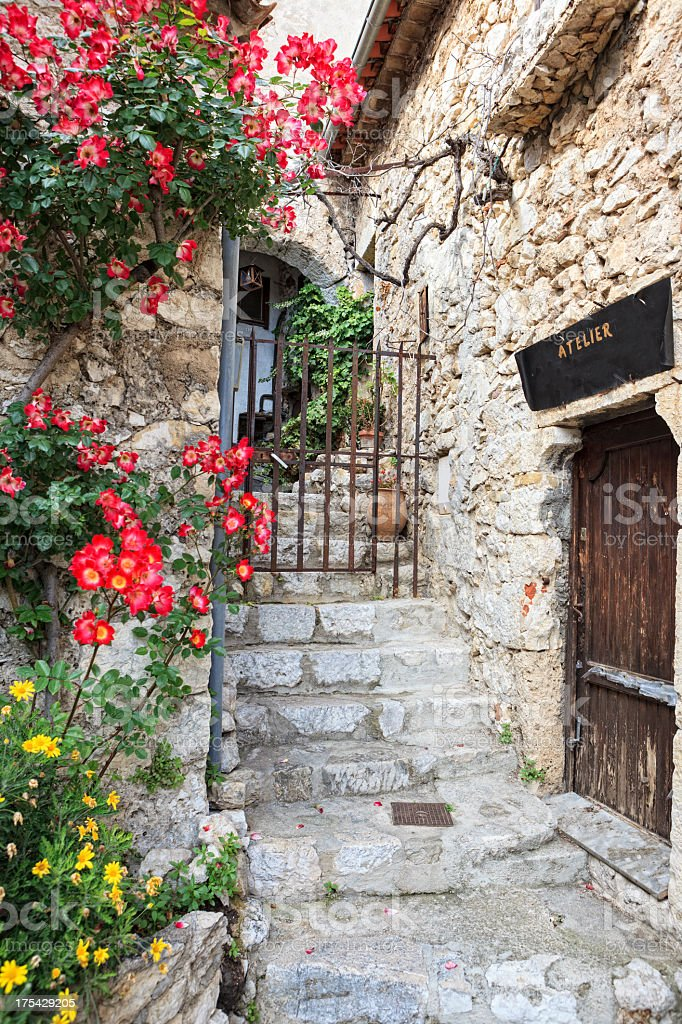 Old town Èze, French Riviera stock photo