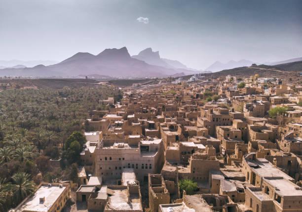 old town al hamra in oman - oman стоковые фото и изображения