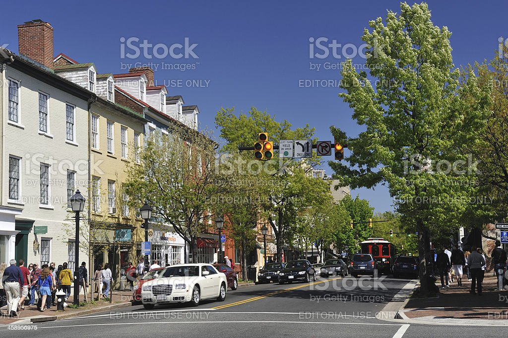 Old Town Alexandria stock photo
