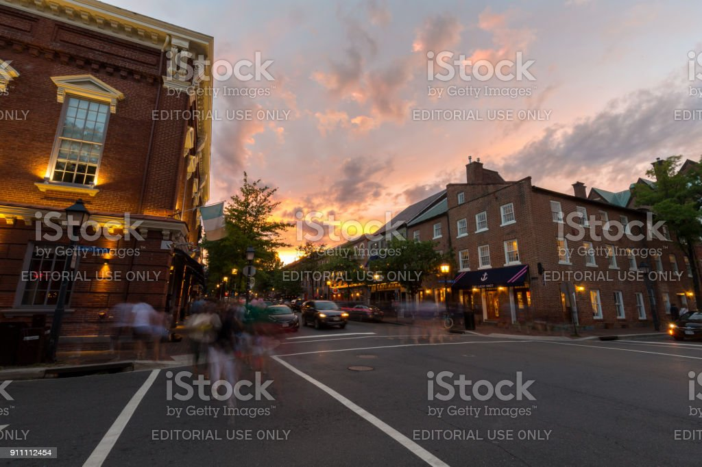 Old Town Alexandria, VA. stock photo