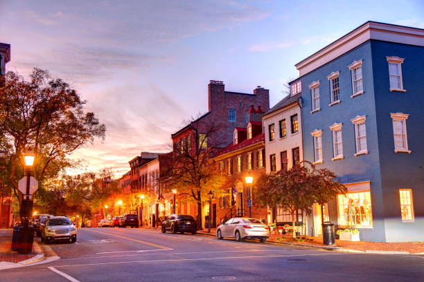 Old Town Alexandria, Virginia Alexandria is an independent city in the Commonwealth of Virginia in the United States. old town stock pictures, royalty-free photos & images