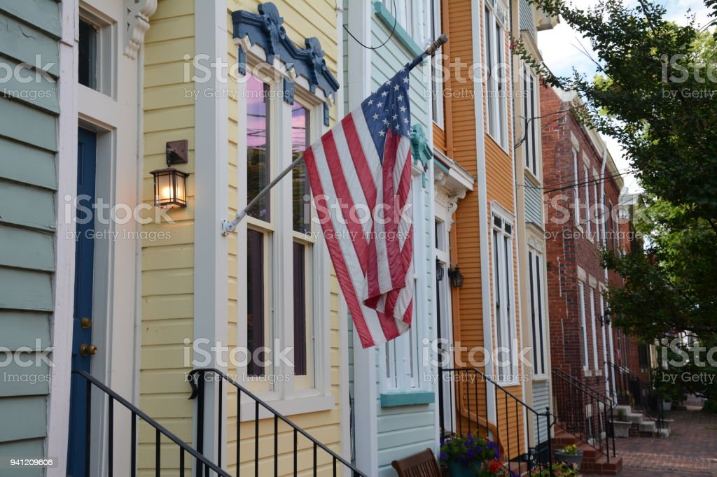 Old Town Alexandria, Virginia stock photo