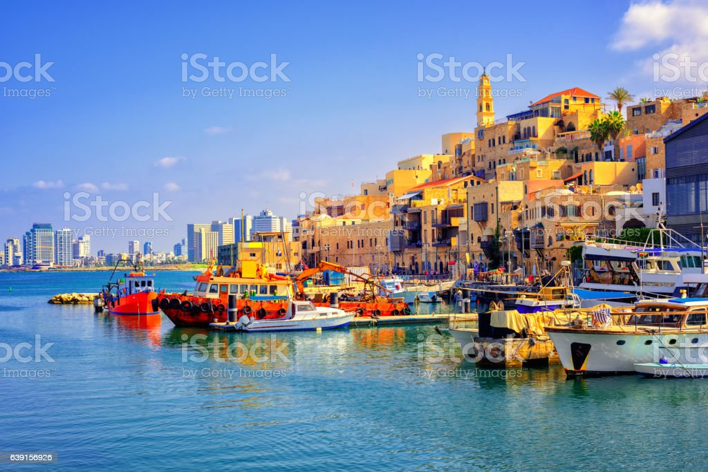 Old town and port of Jaffa, Tel Aviv city, Israel royalty-free stock photo