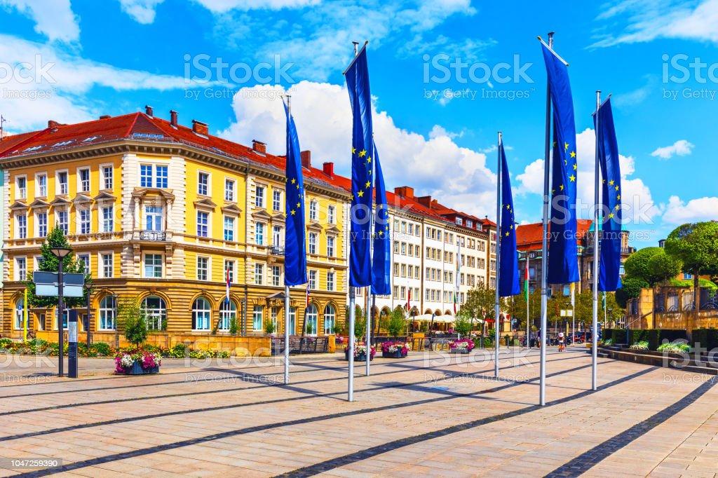 Altstadt-Architektur in Bayreuth, Deutschland - Lizenzfrei Alt Stock-Foto
