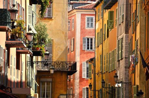 Old Town Architecture Of Nice On French Riviera Stock Photo - Download Image Now