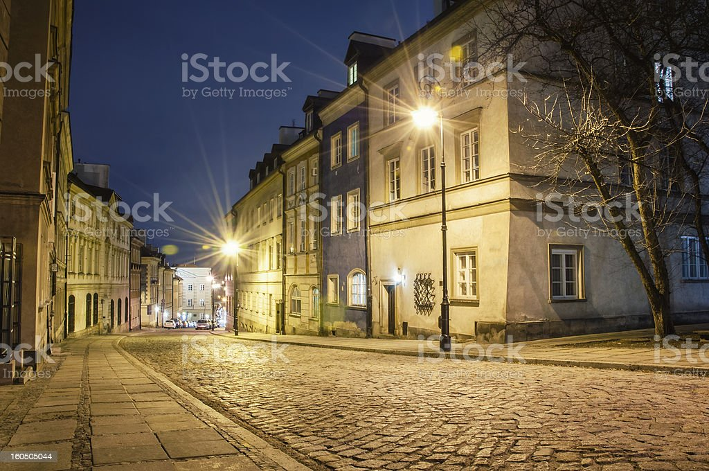 Old Town at night. royalty-free stock photo