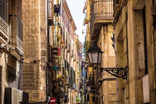 Old Town Barri Gotic in Barcelona