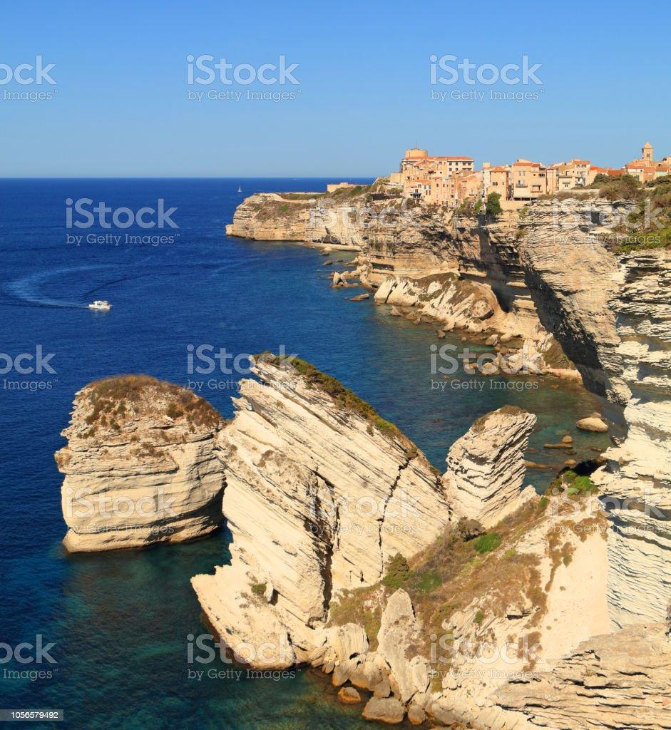 Old Town Bonifacio, Corsica stock photo