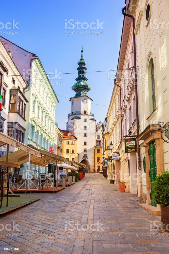 Old town Bratislava Slovakia stock photo
