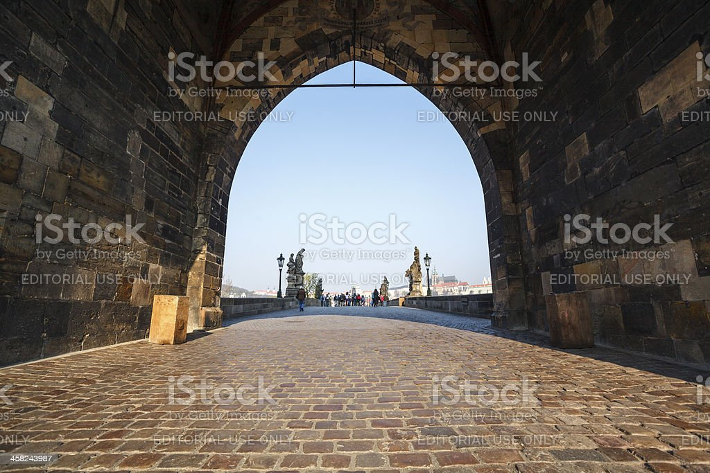 Old Town brigde tower royalty-free stock photo