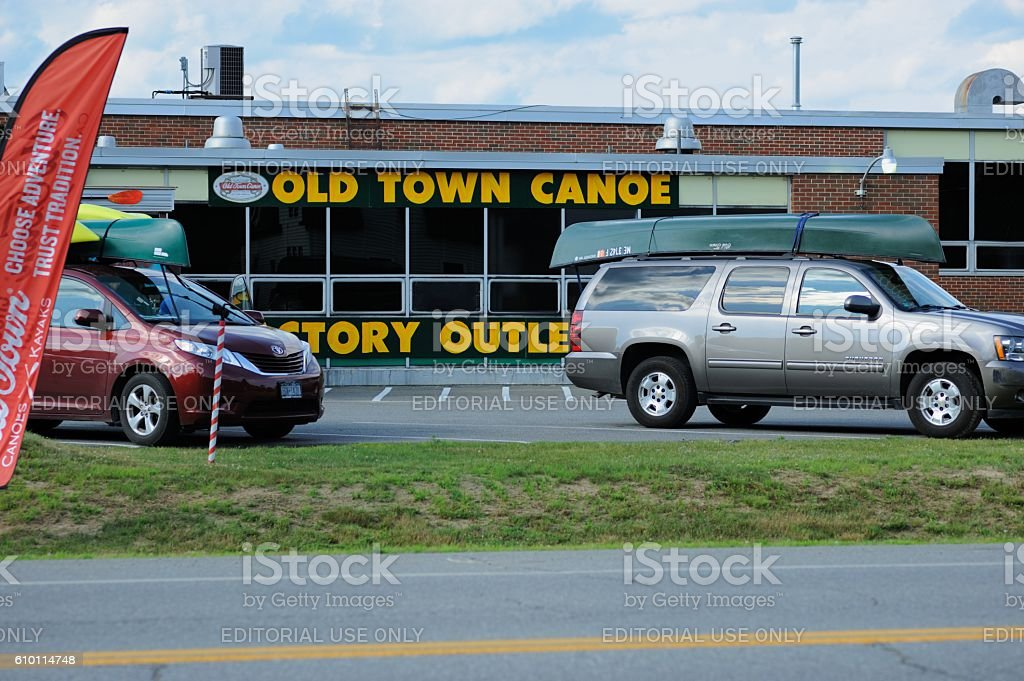 Old Town Canoe Factory Outlet With Sign Stock Photo More Pictures