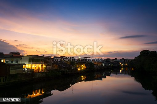 istock old town chanthaboon waterfront at twilight, Asia Thailand. 697975752