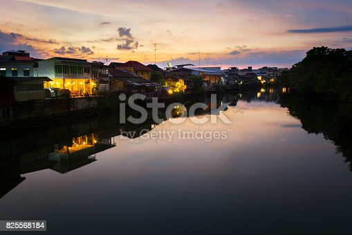istock old town chanthaboon waterfront at twilight, Asia Thailand. 825568184
