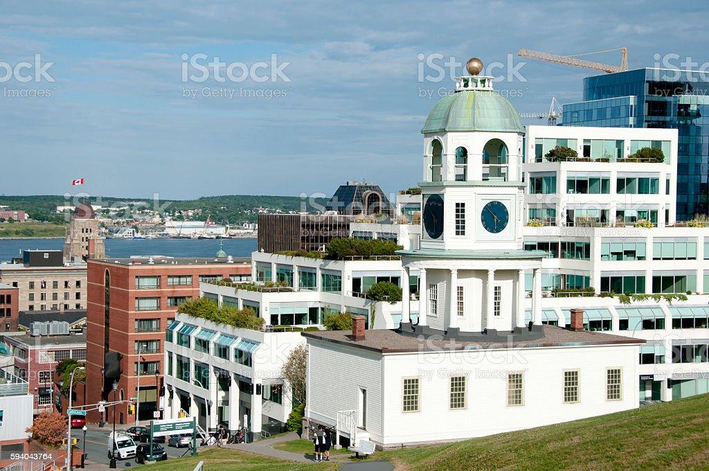 Old Town Clock - Halifax - Nova Scotia stock photo
