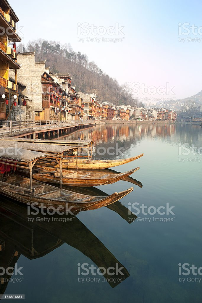 Old town Feng Huang in China royalty-free stock photo