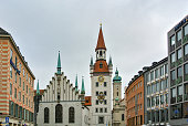 Old Town Hall at Marienplatz Square in Munich, Germany.