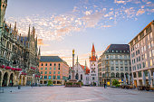 Old Town Hall at Marienplatz Square in Munich, Germany