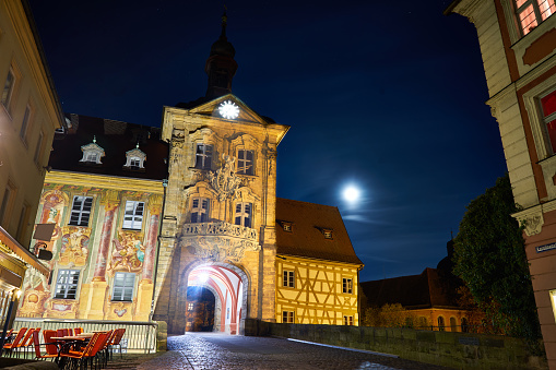 Old Town Hall Bamberg in the moonshine