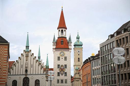 Old Town Hall (Altes Rathaus) building at Marienplatz in Munich,