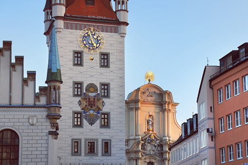 Old Town Hall facade in Munich