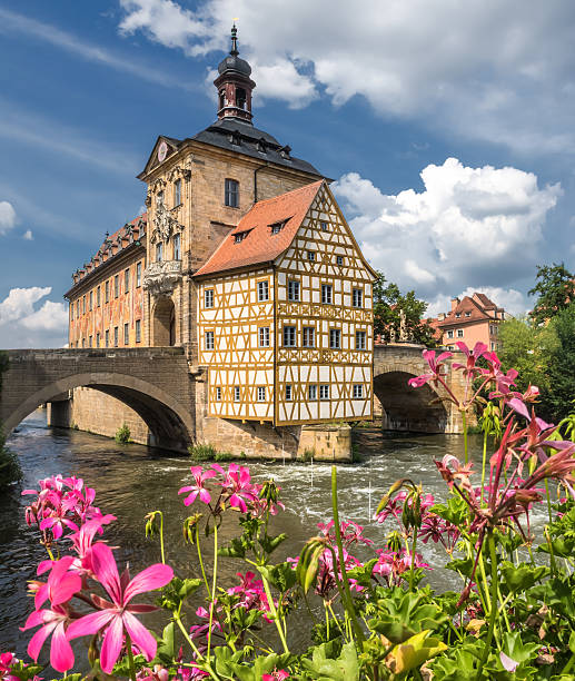 old town hall in bamberg (germany) - bamberg stock-fotos und bilder